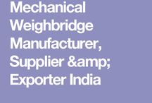 Mechanical Weighbridge Manufacturer, Supplier & Exporter India