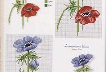 цветы и растения вышивка крестом / by Елена Абишева