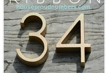 House Numbers / Unique house numbers and address signs
