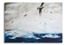 """Gemälde /  """"flow"""" (engl. """"Fließen, Rinnen, Strömen"""") bezeichnet das Gefühl...  ...der völligen Vertiefung und des Aufgehens in einer Tätigkeit. In diesem beglückenden Zustand befinde ich mich manchmal und dann entstehen Bilder wie diese..."""