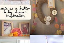 Cute a button baby shower inspiration
