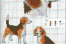 Cross stitch beagle