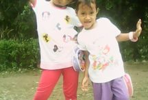 My sweety in action.. Smile kak nadya & adik dhila
