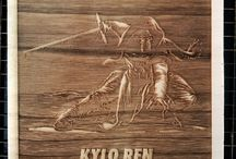 wooden posters