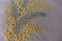 broderie : mimosa