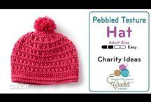 Crochet pebbled hat