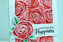 Brushos/ Bistre/ Color Burst Cards by Karen Dunbrook- Snippets