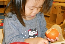 Inside our Montessori Classrooms / The physical environment of our Montessori classrooms are carefully prepared, orderly, precise & attractive. They invite learning without being over-stimulating & allow the children to experience success that becomes truly meaningful to each child in the core areas of practical life, sensorial, math, & language.