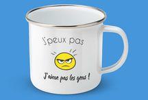 Les Mugs : une idée cadeau originale. / De chouettes idées cadeaux de mugs et tasses émaillées. Découvrez une sélection originale de mugs personnalisés : un objet devenu indispensable pour boire un bon café ou un thé bien chaud.