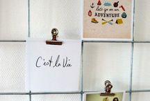 kaarten knutsels ophangen