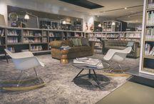Project de Bibliotheek Oosterhout / Foto's van de prachtige, gerenoveerde bibliotheek in Oosterhout. Alle inrichting en het meubilair is verzorgd door Edubib GmbH.  Ontwerp: Aat Vos Fotografie: Marco Heijda
