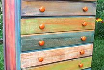 Funky painted furniture...
