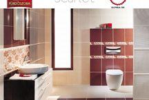 Színek: VÖRÖS & BORDÓ fürdőszobák / piros, vörös és bordó fürdőszobák