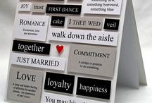 Wedding or anniversary or engagement card