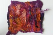 punchen - eigen werk / Van wol en vezels of stukjes stof en zijde een nieuw oppervlak maken is een heerlijk proces Geskea Andriessen www.geskea.com