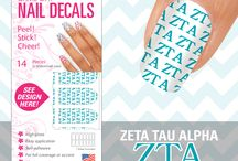 Sorority Game Day Nails / Showcased here is our new product perfect for any sorority member.  Our Game Day Nail Decals are a self-adhesive decal designed to cover your entire nail for any function.  Removal is as easy as peeling it off.  If you would like some for an organization that is not listed please contact us.  We can easily obtain a license and print the organization you are looking for! / by EyeBlack