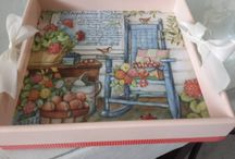 Decoupage Trays