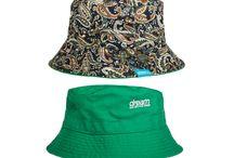 Paisley 5-panel hats and reversible bucket hats