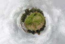 Minimundos / Minimundos formados con panoramica