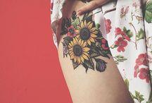 Татуировка в виде подсолнечника