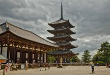 """Kōfuku-ji: One of the Seven Great Temples of the Heian Period! / Kōfukuji (興福寺) is a Buddhist temple, and is located about 1km southwest of Todaiji Temple. It is at the west end of Nara Park. This temple is one of 9 constructions of """"Historic Monuments of Ancient Nara"""" designated as a World Heritage Site. This temple was founded in 669 by Fujiwara no Kamatari (藤原 鎌足, 614 – November 14, 669), who was the ancestor of Fujiwara Clan which had been a noble family from ancient times to medieval times."""