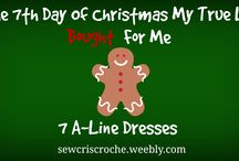 Christmas Countdown - Day 7 / We're counting down the 12 days till Christmas!  Join us on justsewcris.weebly.com or sewcriscroche.weebly.com