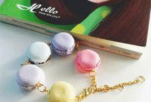 Handmade Clay Accesories / handmade fake sweets jewelry, bracelets, ring, accesories, dust plug, keychain, bag charm etc.