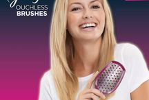 New Ouchless Brushes! / The new Ouchless Brushes gently detangle to reduce hair breakage by 55 percent!*  *Based on laboratory testing, the Goody Ouchless brush reduced hair breakage by 55% when compared to the leading brush: IRI year end 2014/Nielsen year end 2014.