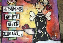 Inspiration for mixed media & art journaling / Mixed media projects & art journaling pages that caught my eye
