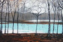Fiona Art Landscape Paintings / Large format landscape art. Mixed oil and acrylic