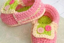 Crochet booties and shoes