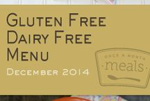 Gluten Free Dairy Free December 2014 Menu / Our Gluten Free Dairy Free December 2014 Menu is made up of our readers' favorites from sweet morning smoothies to savory stuffed peppers and chili. / by Once A Month Meals