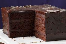 deep ganache chocolate cake