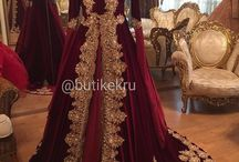 kaftan bindallı kırmızı kına elbisesi