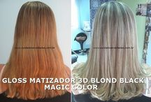 CABELOS ALARANJADOS OU AMARELADOS - GLOSS MATIZADOR 3D BLOND BLACK MAGIC COLOR