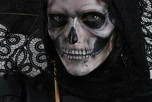 make up maschere scheletro-evil
