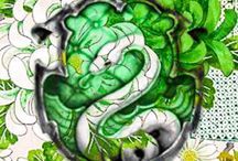 Slytherin wandpappe