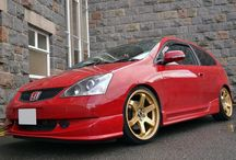 Gold alloy wheels