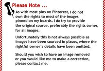 Disclaimer On My Pins / The fine print...