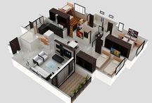 Interior Design 3D Plans