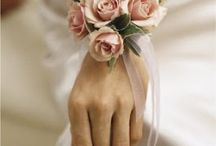 #Bridal #Corsages / To add that beautiful finishing touch why not order corsages for your bridesmaid (a small bouquet of flowers worn on a woman's dress or as I've selected here worn around her wrist essential to warding off evil spirits). Corsages are usually worn by special participants at wedding ceremonies. Www.theweddingowl.com