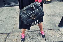 vichy checkered skirt and nike
