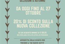 Saldi d'Autunno / Speciale promozione d'autunno