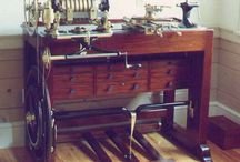 Fine Tools: Lathes: Ornamental / Complex or non simple turning devices for wood and other material. Powered and non-powered