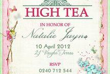 AFTERNOON TEA INViTATIONS