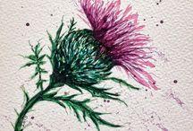 Botanic Thread Painting