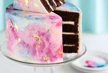 Water Color Cakes