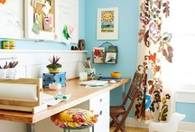 Craft Room Ideas  / Let's get crafty. Of course we have to have a craft room for all the craft stuff we wanna make.  / by Rachel Elliott