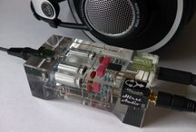 Design / Unusual crystal headphone amplifier / Wzmacniacz słuchawkowy zatopiony w akrylu