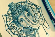 Tatouage De Ganesh